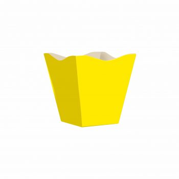 Cachepot Vintage Liso Pequeno 10pc Amarelo