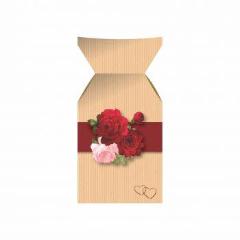 Vaso Cartonado Melissa Lady Love 19cmx8,5cm 06pçs Natural/Vermelho