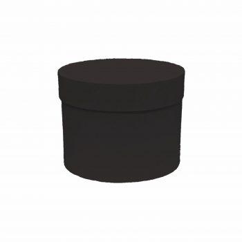 Caixa Rígida Redonda 15,5cmx12cm 1pç Preta