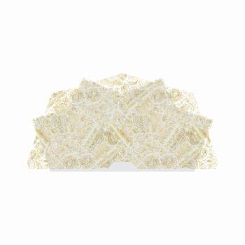 Bouquet Francês Indiano 25fls Branco C/ Ouro
