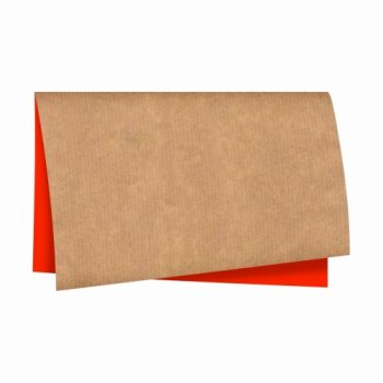 Papel Kraft Dupla Face 68cmx79cm 25fls Kraft/Vermelho