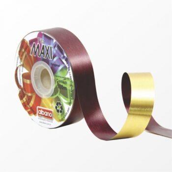Fita Maxi Paper Look Dupla Face Laminada 32mmx100m Ameixa/Ouro