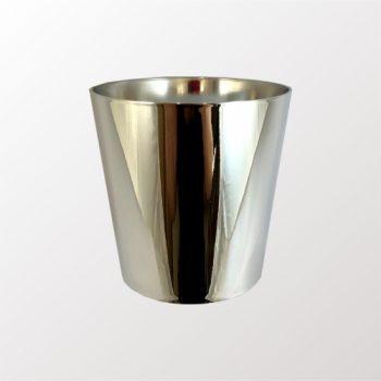 Cachepot Acrílico Cone Metalizado 10,5cmx10,5cm Prata