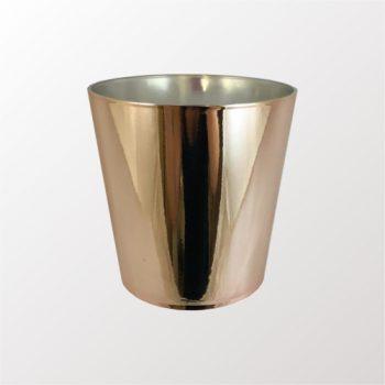 Cachepot Acrílico Cone Metalizado 10,5cmx10,5cm Rosê