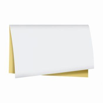 Poli Dupla Face Retrô 68cmx65cm 25fls Branco/Ouro