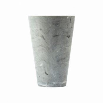 Vaso Acrílico Tulipa Marmorizado 21cmx13cm Unidade Cinza