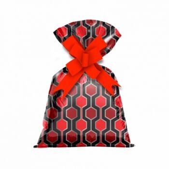 Saco Poli Metalizado Tile 15cmx25cm 50pçs Vermelho