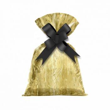 Saco Poli Metalizado Mármore 12cmx22cm 50pçs Ouro
