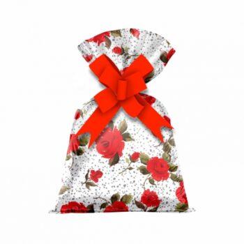 Saco Poli Metalizado Florata 12cmx22cm 50pçs Vermelho
