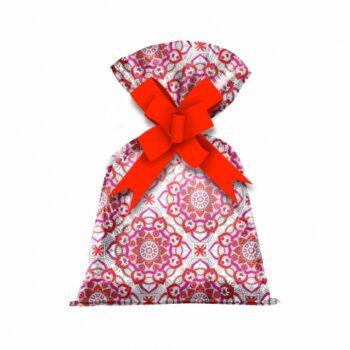 Saco Poli Metalizado Pérsia 15cmx25cm 50pçs Vermelho/Pink