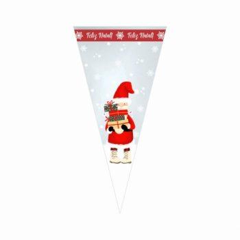Cone Poli Wishes 30cmx15cm 50pçs Vermelho