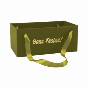 Caixa Kit Boas Festas C/ Alça 20cmx12cmx10cm 1pç Verde