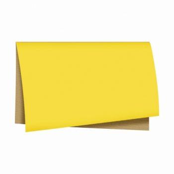 Poli Dupla Face Kraft Color 68cmx65cm 25fls Amarelo/Natural