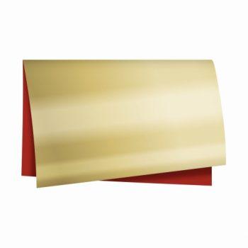 Poli Dupla Face Metálico 69cmx79cm 25fls Vermelho/Ouro