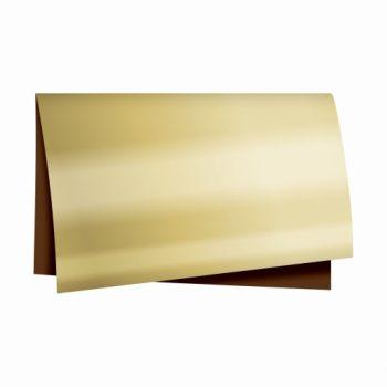 Poli Dupla Face Metálico 69cmx79cm 25fls Marrom/Ouro