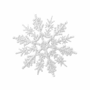 Aplique Snow Flake 07cm 03pçs Branco