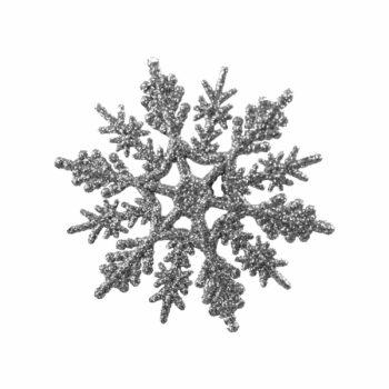 Aplique Snow Flake 07cm 03pçs Prata