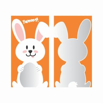 Saco Poli Happy Bunny 12cmx22cm 50pçs Laranja