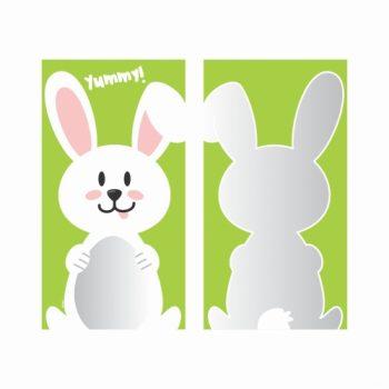 Saco Poli Happy Bunny 12cmx22cm 50pçs Verde