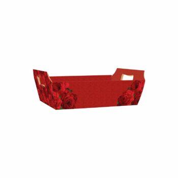 Bandeja Vintage Red Bloom 21cmx15cmx6,5cm 4pc Vermelho
