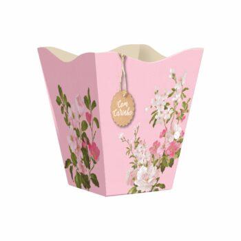 Cachepot Vintage Anne Grande 10pc Rosa
