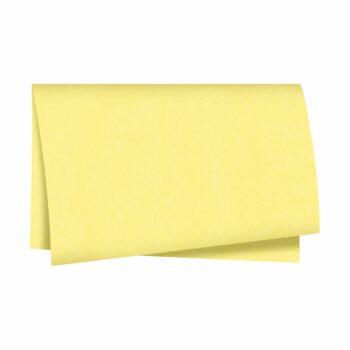 Papel Kraft Liso Color 68cmx79cm 25fls Amarelo
