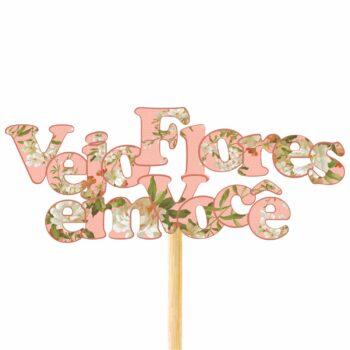 Pick MDF Anne Vejo Flores Em Você 60mmx150mm 1pç Coral