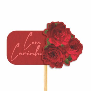 Pick MDF Red Bloom 67mmx109mm 1pç Vermelho