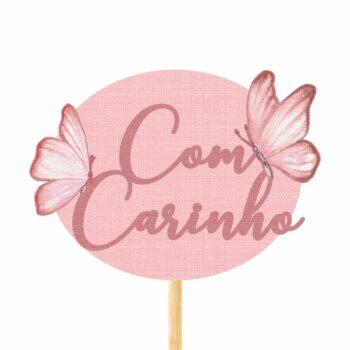 Pick MDF Soft Fly Com Carinho 75mmx103mm 1pç Rosa