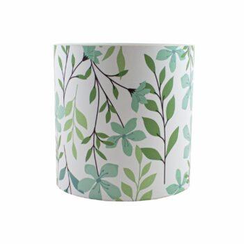 Cachepot Acrílico Foliage Pote 15 Branco/Verde