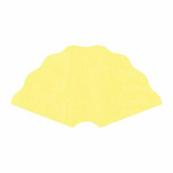 Leque Kraft Color 40cmx80cm 25fls Amarelo