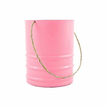 Vaso Alumínio C/ Alça Pote 09 Rosa