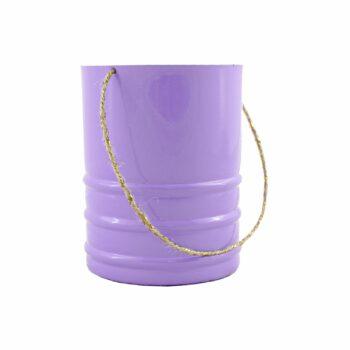 Vaso Alumínio C/ Alça Pote 09 Lilás