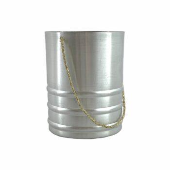 Vaso Alumínio C/ Alça Pote 09 Prata