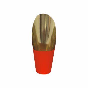 Cover Metalizado Glamour Pote 09 C/ 26cm Altura 06pçs Vermelho/Ouro