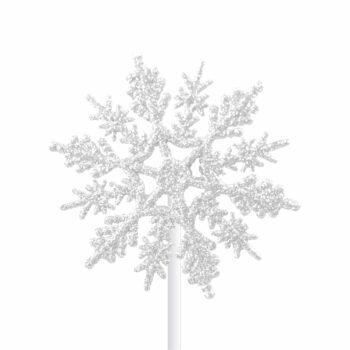 Pick Snow Flake 07cm 1pç Branco