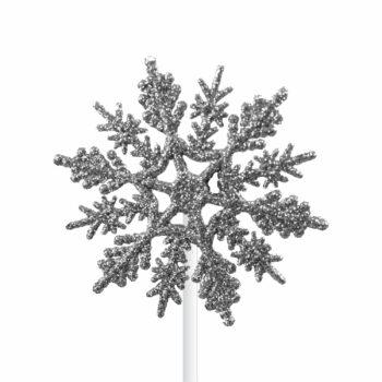 Pick Snow Flake 07cm 1pç Prata