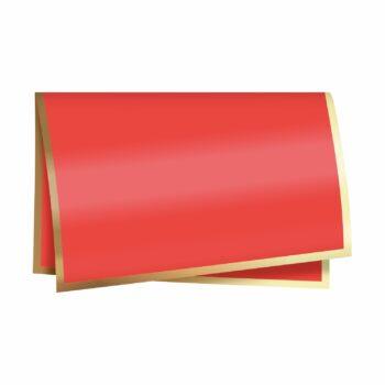 Poli 400 New Classic 67cmx67cm 25fls Vermelho/Ouro