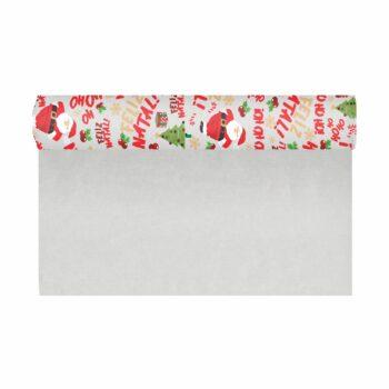 Pack Roll Kraft Noel 68cmx15m Branco/Vermelho