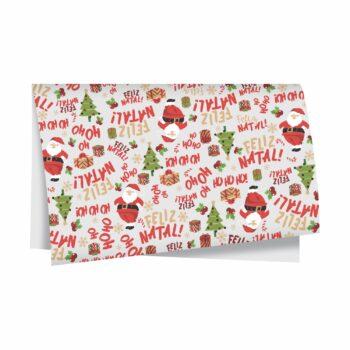 Papel Seda Noel 49cmx69cm 50fls Branco/Vermelho